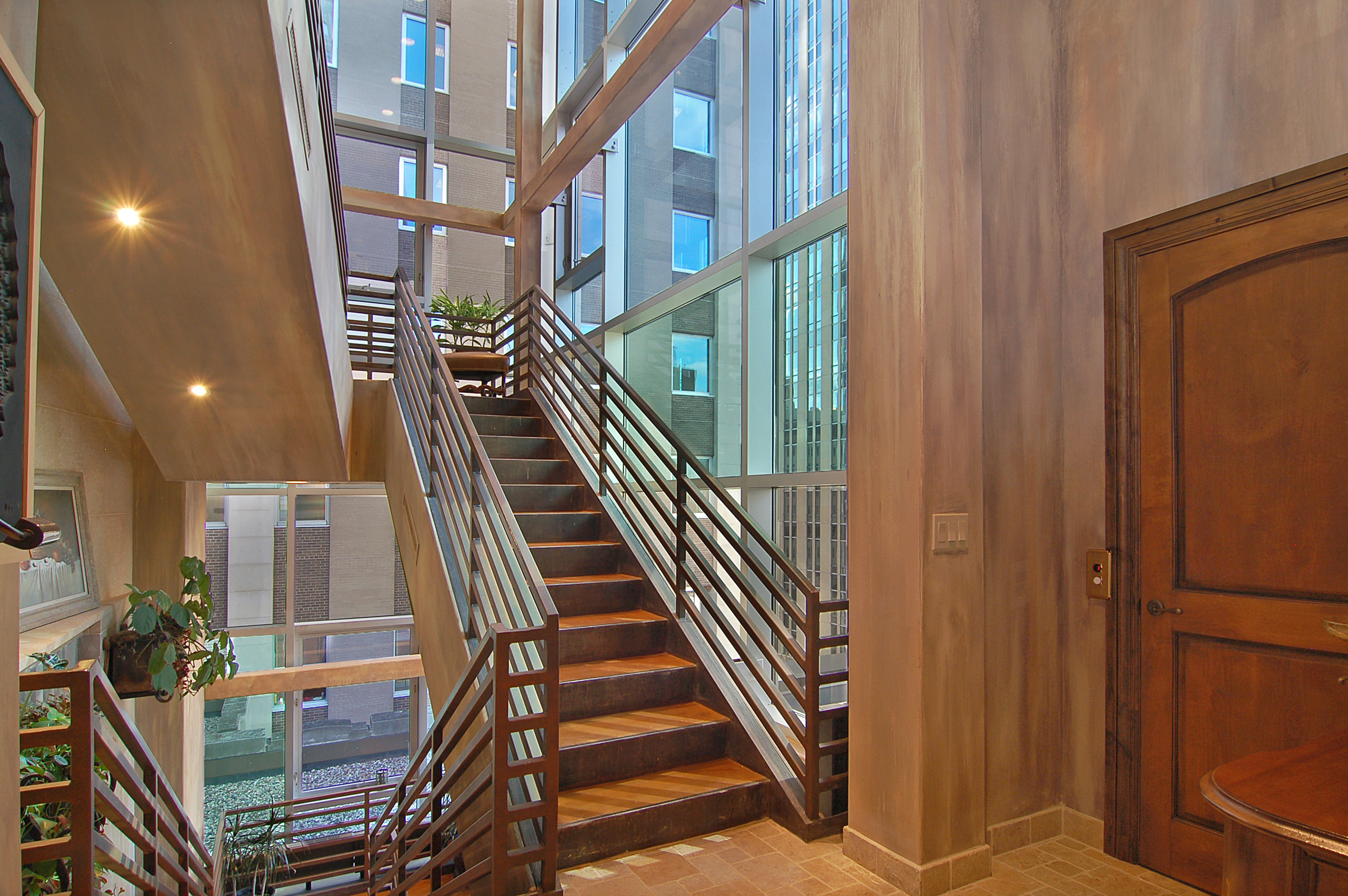 601 Marquette Avenue #701 - Open Stairway and Private Elevator
